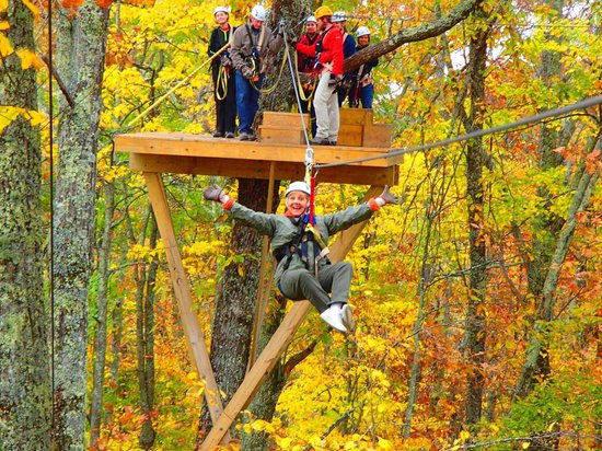 Sky Valley Zip Tours: if a 66 year old can do this, anyone can! What fun!!