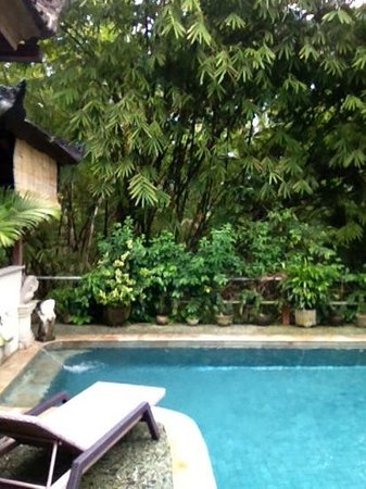 LadyBamboo Villa: Relaxing Pool Sun Lounge area