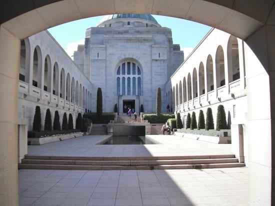 Entrance into the Australian War Memorial
