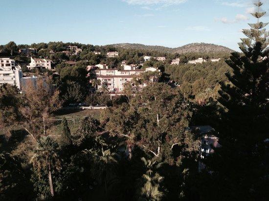 Apartamentos Las Palomas Econotels: Вид на противоположную сторону моря с коридора