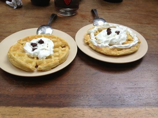 The Peace Project Hostel: waffles!