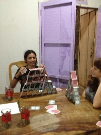 The Peace Project Hostel: staff was super friendly, Ramon was king at building card houses