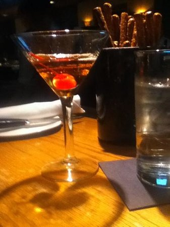 J. Gilbert's Wood-Fired Steaks & Seafood: nice Manhatten for my husband