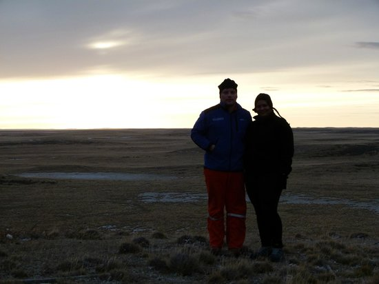 Tierra del Fuego, Chile: Me and my friend in countryside