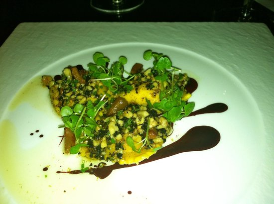 The Grill: Goat Cheese and Beet Ravioli