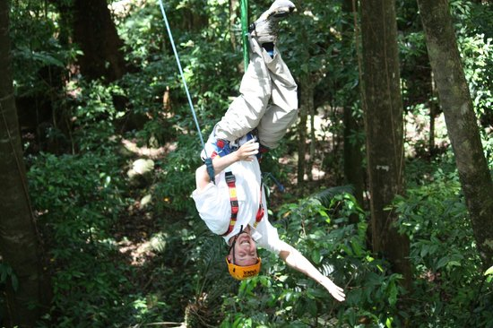 Jungle Surfing Canopy Tours: inverted