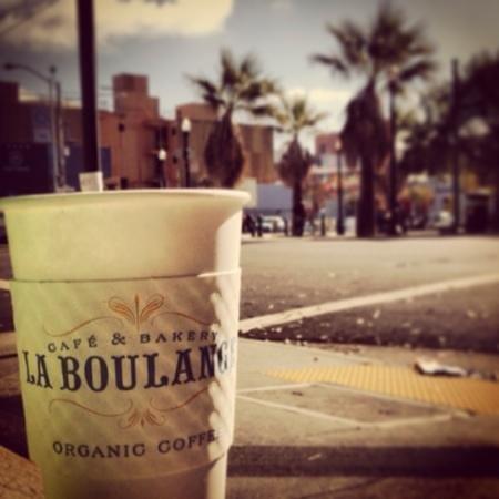 La Boulange de Hayes : enjoy the café au lait and the view