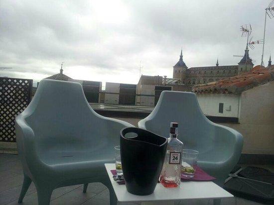 Antídoto Rooms: terraza