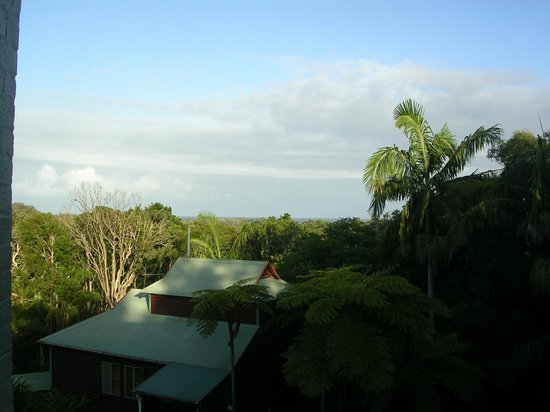 The Oasis Resort & Treetop Houses: View from the balcony of Unit 24 The Oasis