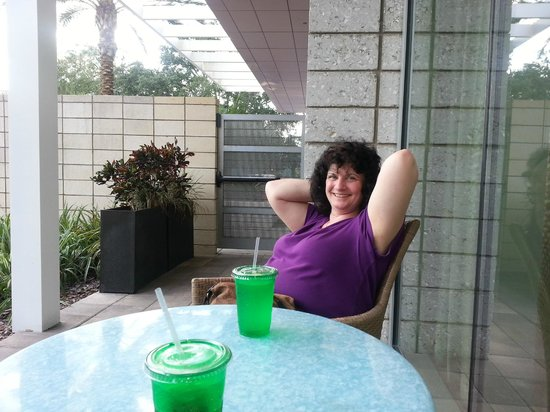 Holiday Inn Orlando – Disney Springs Area: My wife, keeping me company relaxing.