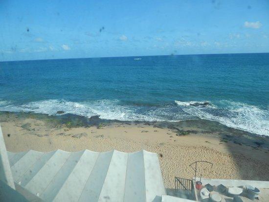 San Juan Beach Hotel : Great view, despite the dirty windows