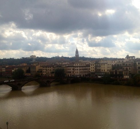 The Westin Excelsior Florence: View of the river from our room