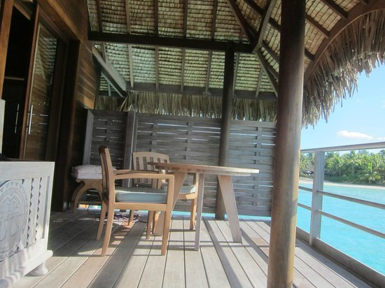 Four Seasons Resort Bora Bora: back deck