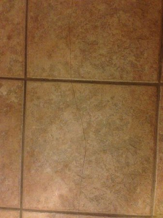 Best Western Legacy Inn & Suites Beloit/South Beloit: Crack tile