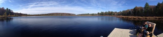 The Lodge at Woodloch: panoramic of the lake from the dock