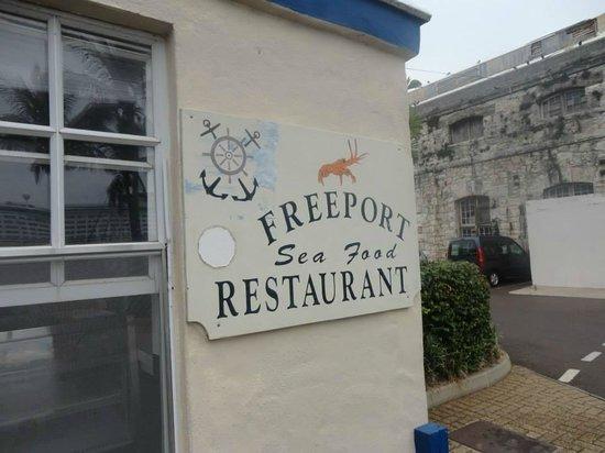 Freeport Seafood Restaurant : Front sign