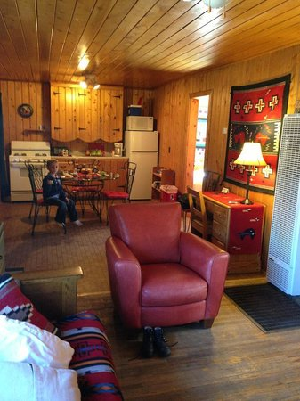Three Bears Lodge: view from the tv