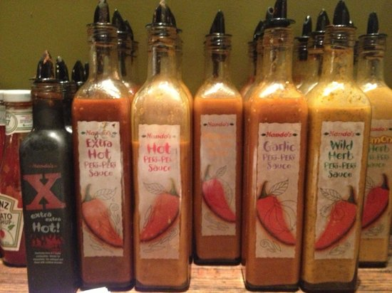 Nando's: Hold the sauce and you can choose which ones to bring back to your table!