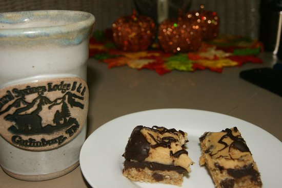 Laurel Springs Lodge B&B : My favorite night time treat of our stay - peanut butter bars