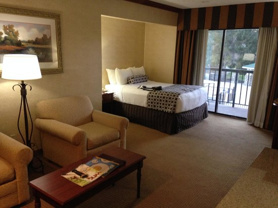 Crowne Plaza  Resort Asheville: looking into the room