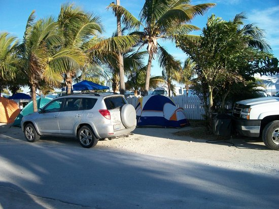 Boyd's Key West Campground: Car camping amid the palms