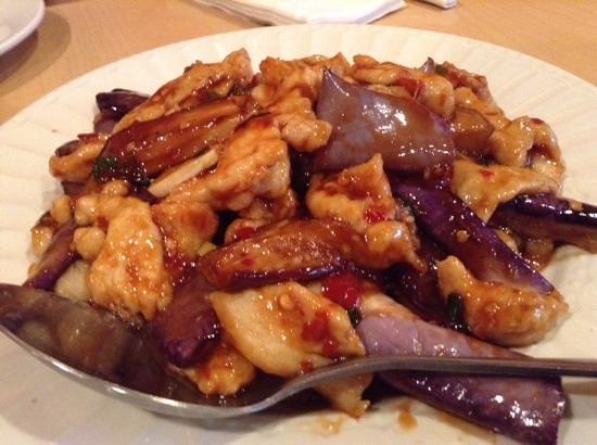 Super Wok: chicken with eggplants