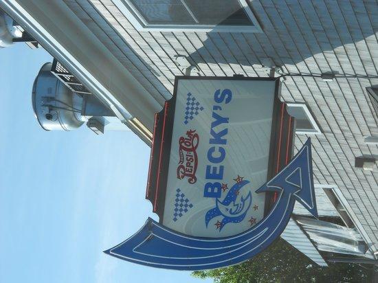 Becky's Diner : Becky's sign