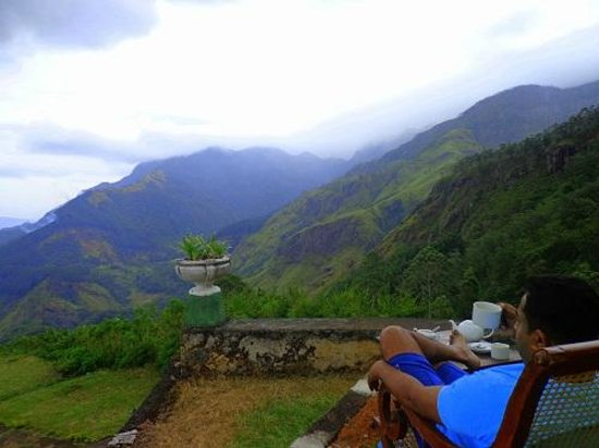 World's End Lodge: Morning tea with the enchanting nature..!