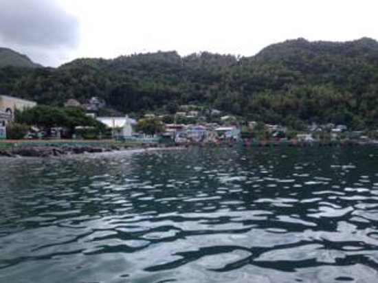 Fond Doux Plantation & Resort: Soufriere from the water