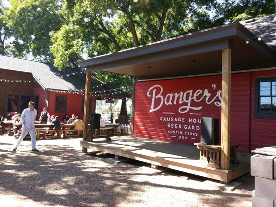 stage at bangers picture of bangers sausage house and beer garden austin tripadvisor