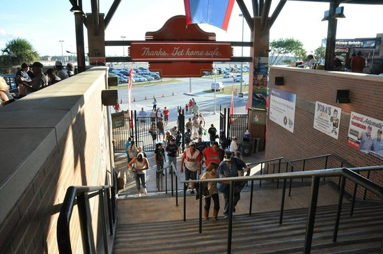 Main entrance to Whataburger Field in Corpus Christi. Handicap access is available.