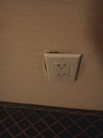 Quality Inn & Conference Center: Dangerous electrical outlets