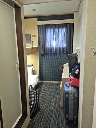 Ueno Touganeya Hotel : corridor to the toilet & bunk bed