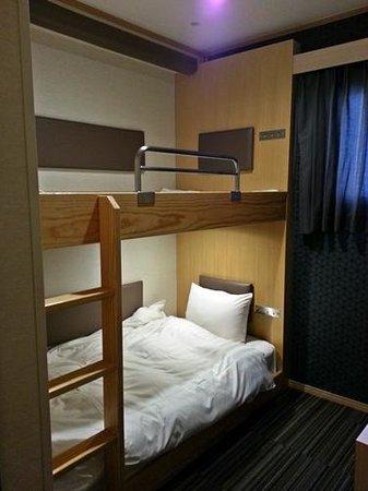 Ueno Touganeya Hotel : Comfortable bunk bed and pillows