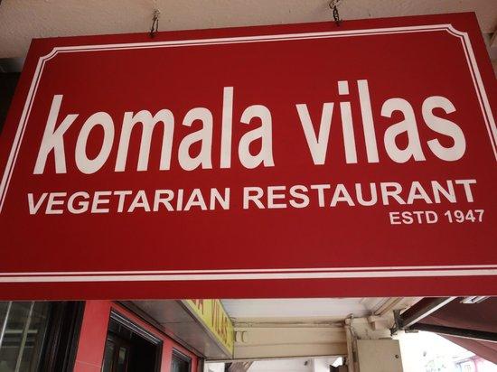Komala Villas Restaurant: 看板