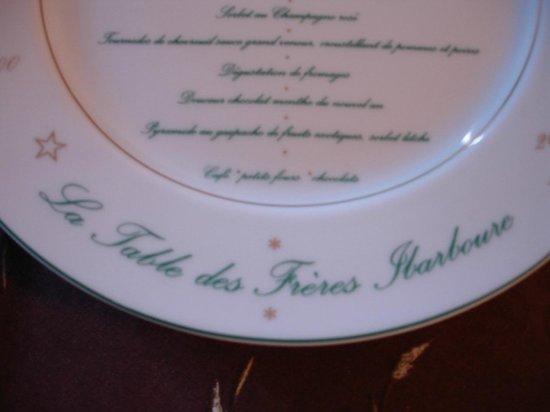 Les Frères Ibarboure : Le menu de la Table