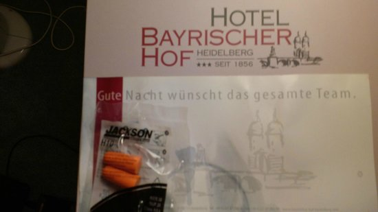 Bayrischer Hof : Hotel mngt's answer to extreme noise, roadworks outside rooms.
