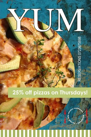 Tin Roof Cafe: Pizza night on Thursdays! 25% off pizzas from the menu