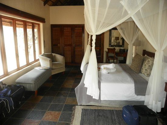 Jackalberry Lodge: View of our on-suite room
