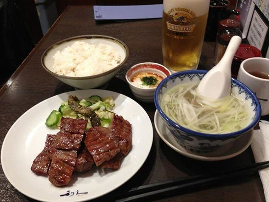 Rikyu Sendai Station : 牛タン定食