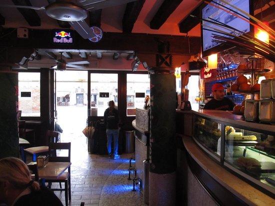 Margaret Duchamp: Across the bar area to the door