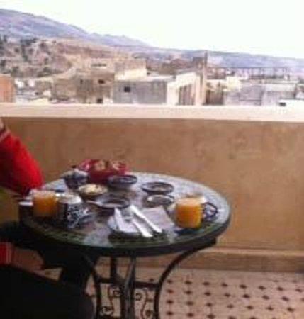 Riad Idrissides: colazione in terrazza