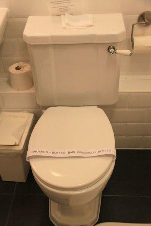 B+B Edinburgh: Ren toalett! Kul!