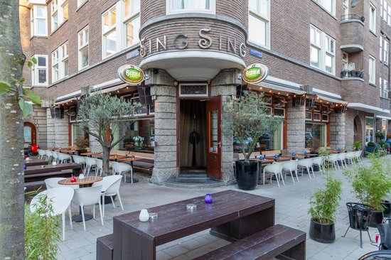 King Sing: Terrace with heaters
