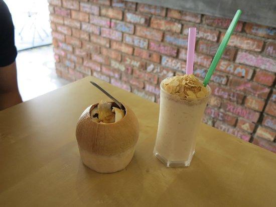 Bikini Toppings: coconut ice cream and coconut shake