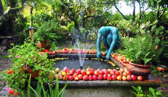 Costa Vella Hotel: fuente y jardin