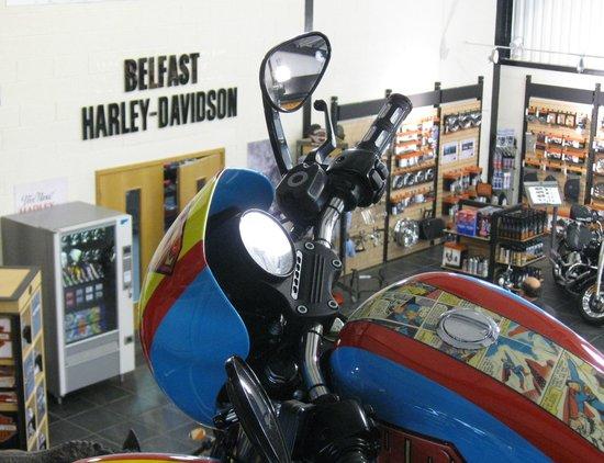 harley davidson showroom picture of la mon hotel. Black Bedroom Furniture Sets. Home Design Ideas