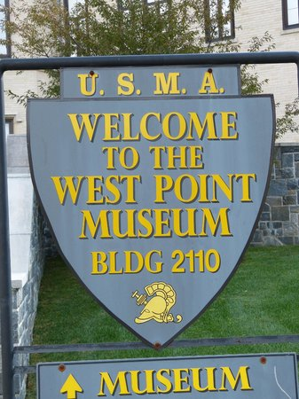West Point Museum: Entry Sign