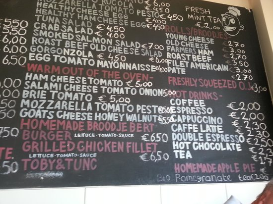Broodje Bert: Simple but excellent menu