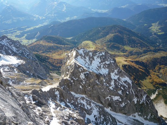 Skywalk Dachstein: View from the Suspension bridge